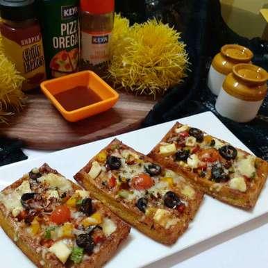 Photo of Handvo waffle pizza by Chandu Pugalia at BetterButter