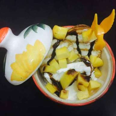 Photo of Mango log with vanila ice cream by Chavi Gupta at BetterButter