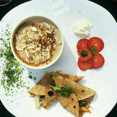 Photo of Strawberry veggie wrap with caramel suji kheer flavour of toasted nuts by Chavi Gupta at BetterButter