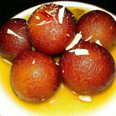 Photo of Mawa Gulab Jamun With Kesar Syrup by Aarti Nijapkar at BetterButter