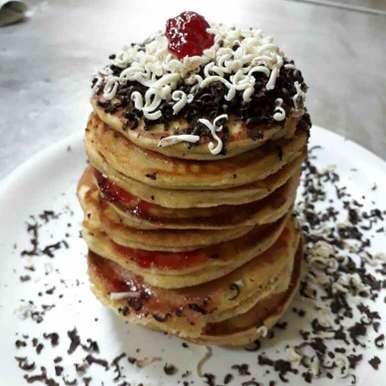 Photo of Banana Eggless Pancake (Wheat flour) by Aarti Nijapkar at BetterButter
