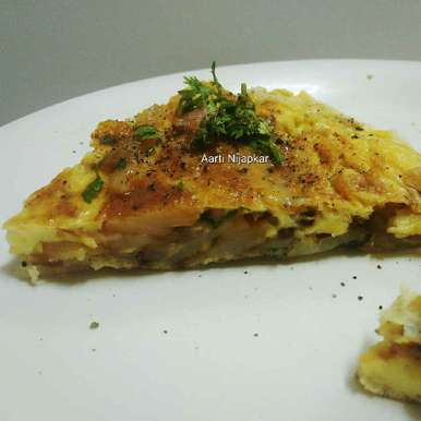 Photo of Spanish potato Omlette by Aarti Nijapkar at BetterButter