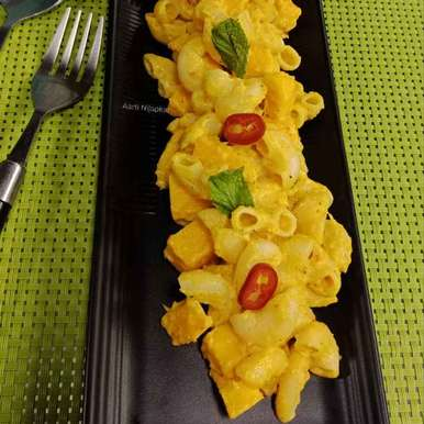 Photo of Mango Spicy Pasta by Aarti Nijapkar at BetterButter