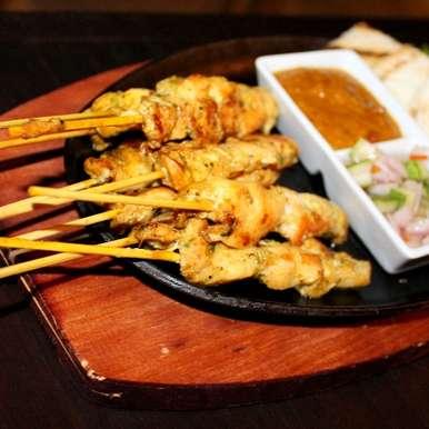 Photo of Thai Chicken Satay (Sate Kai) with peanut sauce. by Chef (Mrs) Reetu Uday Kugaji at BetterButter