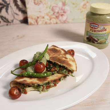 Photo of Roti Quesadilla	with Thecha Mayonnaise by Ranveer Brar at BetterButter
