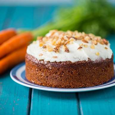 Photo of Carrot Cake with Cream Cheese frosting and walnuts by Bindiya Sharma at BetterButter