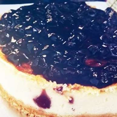Photo of Blueberry Baked Cheesecake by Aarti Nijapkar at BetterButter