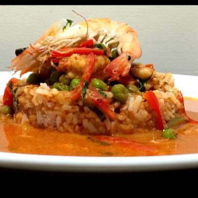 Photo of Red Curry with Prawns (Panaeng Kung ) by Chef (Mrs) Reetu Uday Kugaji at BetterButter