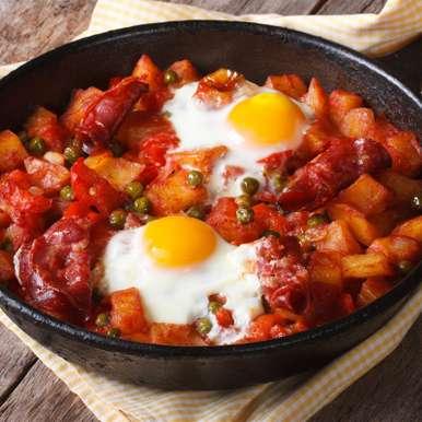 Huevos a la flamenca, How to make Huevos a la flamenca