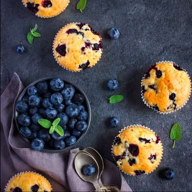 Photo of Blueberry Muffins by Sanjula Thangkhiew at BetterButter