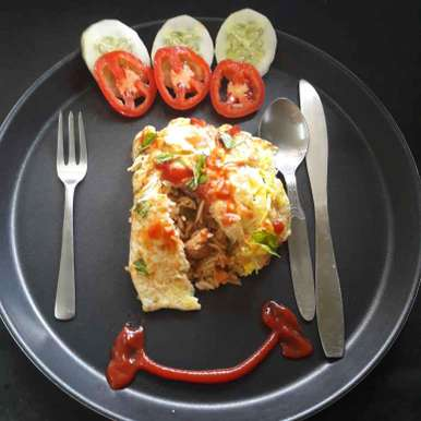 Photo of Omurice/ Omelette Rice by Debomita Chatterjee at BetterButter