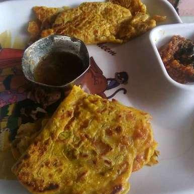 Photo of Oats besan pancake and besan pancake with kaaram by Deepa Gautam at BetterButter