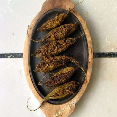 Photo of Stuffed Roasted Bitter Gourd | Bharwan Karela by Deepali Jain at BetterButter