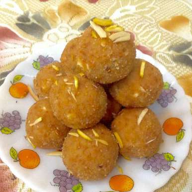 Photo of Moong dal laddoo by Delicacies On The Plate - Pallavi's Kitchen at BetterButter