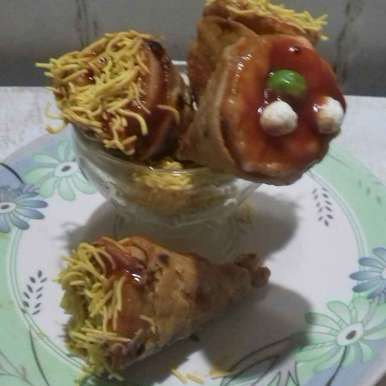 Photo of Vegetable roti cone by Devi Amlani at BetterButter