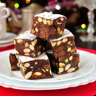 Photo of Panforte di siena (Italian Dry Fruit Cake) by Deviyani Srivastava at BetterButter