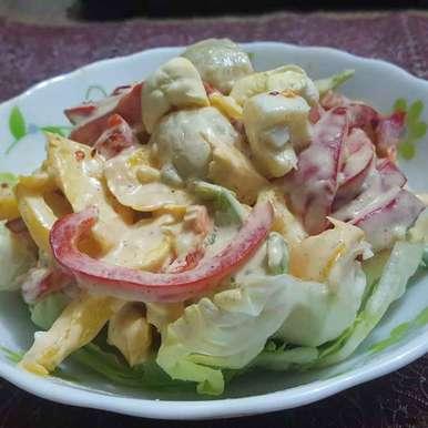 Photo of Egg and Vegetable Salad by debashri chatterji at BetterButter