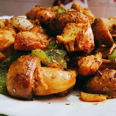 Photo of Stir fried chicken with mushroom by debashri chatterji at BetterButter