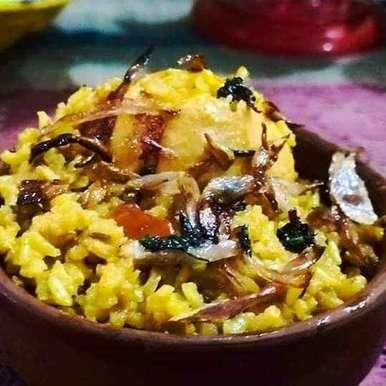 Photo of Brown rice egg biryani by debashri chatterji at BetterButter