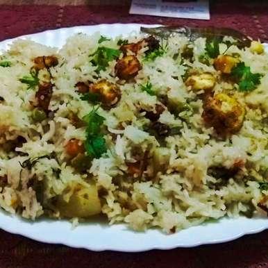 Photo of Paneer pulao by debashri chatterji at BetterButter