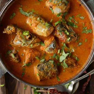 Photo of Maharashtrian Bangdyache Ambat Kalwan (Spicy Mackerel Curry with Coconut and Tamarind) by Dhanya Samuel at BetterButter