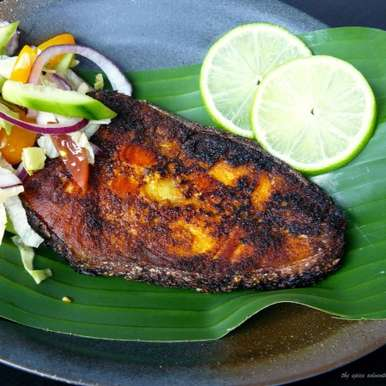 Photo of Pan Fried Salmon (with a Kerala style spice marinade) by Dhanya Samuel at BetterButter