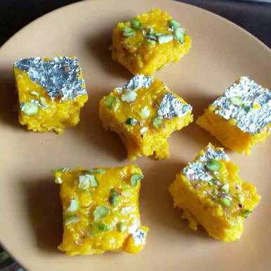 Photo of Mango Paneer Barfi by Dhara joshi at BetterButter