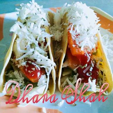 Healthy homemade cheesy tacos using leftover chappati dough by Dhara Shah, How to make Healthy homemade cheesy tacos using leftover chappati dough by Dhara Shah