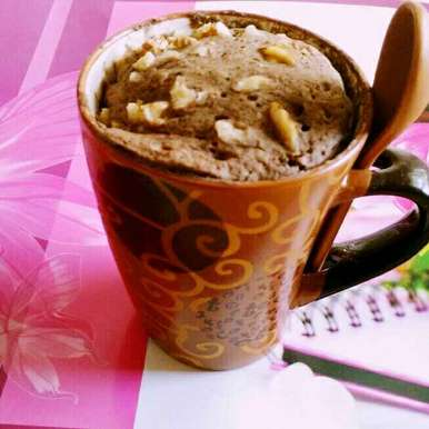 Photo of Eggless 2 Minutes Chocolate Whole Wheat Mug Cake by Dhara Shah at BetterButter