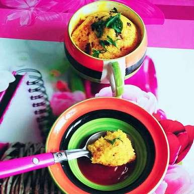 Photo of 2 Minutes Microwave Khaman Dhokla in Mug! by Dhara Shah at BetterButter