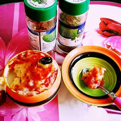 Photo of 2 minutes no yeast pizza in a mug by Dhara Shah at BetterButter