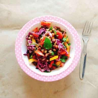 Photo of Black chana and moong salad by Dhara Shah at BetterButter