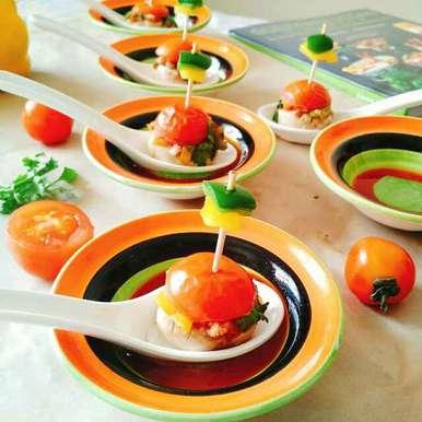 Low fat healthy oats stuffed mushrooms recipe in Gujarati, લો ફેટ પૌસ્ટિક ઓટ્સ સ્ટફફડ મશરૂમ, Dhara Shah