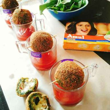 Photo of Spinach Cheese Surprise Balls by Dhara Shah at BetterButter