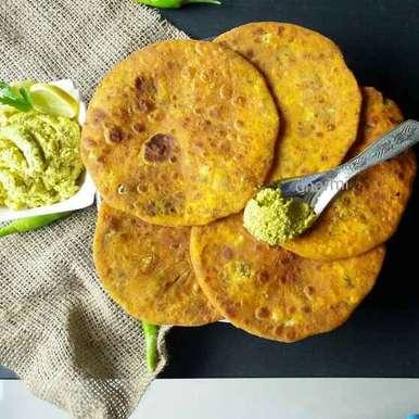 Photo of Cauliflower cheese paratha with rajkot style chutney by Dharmistha Kholiya at BetterButter
