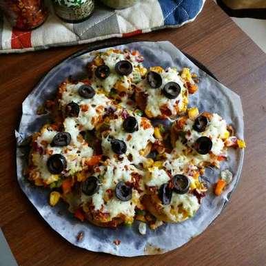 Photo of Baked puri pizza by Dharmistha Kholiya at BetterButter
