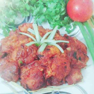 Photo of Pan fried chickwn with tomato sauce by Dipa Bhattacharyya at BetterButter