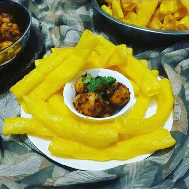 Bhungla bataka recipe in Gujarati, ભૂંગળા બટાકા, Dipika Ranapara