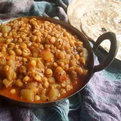Dhudhi chana dal nu sak recipe in Gujarati, દૂધી ચણા ની દાળ નુ શાક, Dipika Ranapara