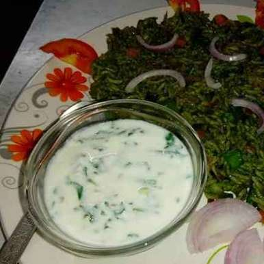 spinach raita recipe in Gujarati, પાલક નું રાયતું, Disha Chavda