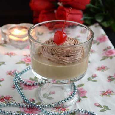 Photo of Espresso Panna Cotta with Cocoa Whipped Cream by Divya Prakash at BetterButter