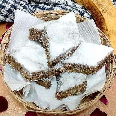 Uparghi Laadu (Whole Wheat Flour And Banana Squares)