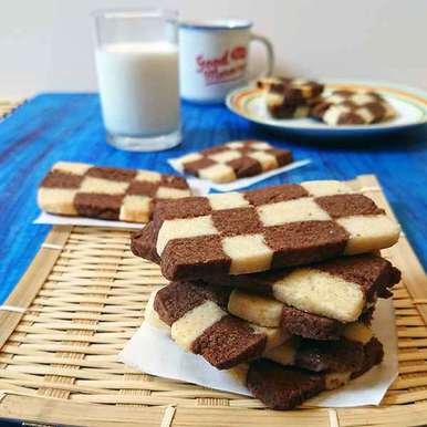 Photo of Eggless Checkerboard Cookies by Drashti Dholakia at BetterButter