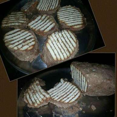 Photo of No Bake Choco Marie Biscuit Cake by DrKhushboo Bansal at BetterButter