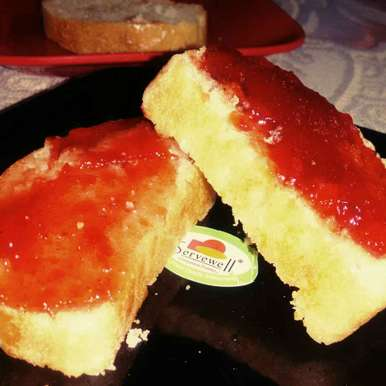White Bread with Jam, How to make White Bread with Jam