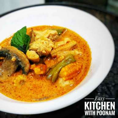Photo of Chicken Red Thai Curry by Easy Kitchen With Poonam at BetterButter