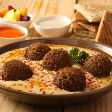 Hummus recipe in Marathi,हुम्मस, Falafels The Lebanese Haus