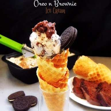 Photo of Oreo n Brownie Ice cream by Farheen Banu at BetterButter