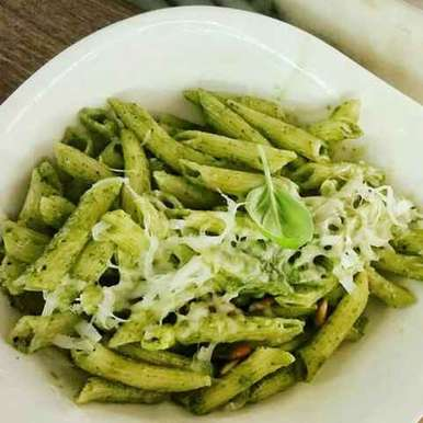 Photo of Pasta In pesto sauce by Farheen Dalvi at BetterButter