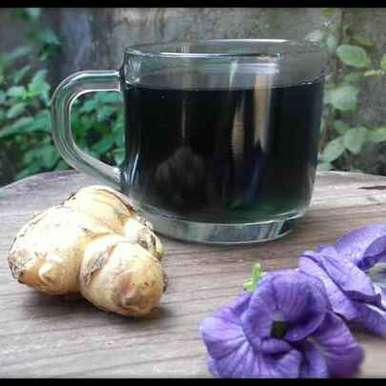 Photo of Butterfly pea flower & ginger tea by FarNaz AhMed at BetterButter